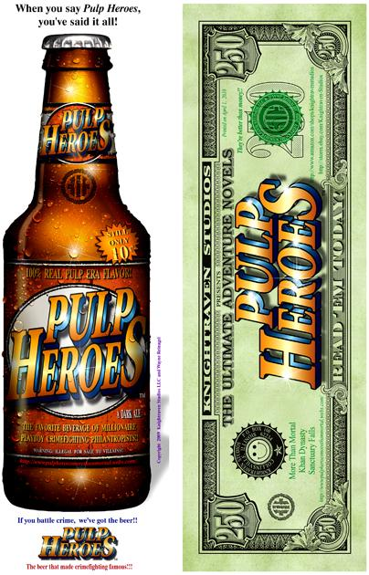 Pulp Heroes Bucks 'n Beer BookMarks
