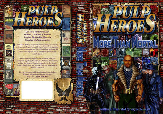 Pulp Heroes - More Than Mortal Novel Cover